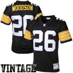 Rod Woodson Pittsburgh Steelers Mitchell & Ness Retired Player Vintage Replica Jersey - Black - $149.99