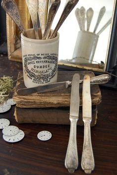 Vintage Besteck - Antike versilberte Messer aus Belgien - ein Designerstück von Ma-Petite-Maison bei DaWanda