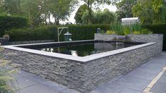 Home Garden and Car Mechanic Garage Koi Fish Pond, Fish Ponds, Garden Pond, Water Garden, Turtle Homes, Koi Pond Design, Pond Waterfall, Pond Water Features, Asian Garden