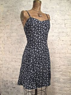 80s/90s Floral Grunge Dress by ChelseaGirlNYC on Etsy, $48.00