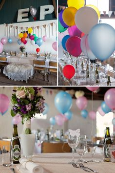 Balloons wedding decorations Signs wedding decorations DIY Wedding Ideas and Inspirations [Photo by Anna Lauridsen]