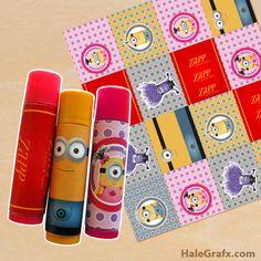 FREE Printable Despicable Me Minion ChapStick Labels