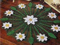 Daisy Web Doily #FD-443 pattern by The Spool Cotton Company