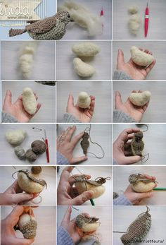 Crochet Bird Patterns, Crochet Tablecloth Pattern, Crochet Birds, Crochet Motif, Crochet Animals, Crochet Stitches, Knit Crochet, Crochet Baby Toys, Crochet Home