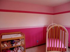Boy and girl room colors cute pink baby room painting ideas interior design wooden shelf awesome baby boy girl shared room paint ideas Girls Room Paint, Pink Bedroom For Girls, Baby Bedroom, Baby Room Decor, Girl Room, Girl Nursery, Nursery Ideas, Bedroom Ideas, Baby Room Paintings