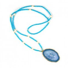 Bead & Agate Necklace