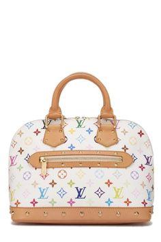 cd7384324f09 Louis Vuitton White Multicolor Alma PM