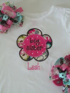 Big Sister Baby Little Gift By BowtiqueMama On Etsy 4300
