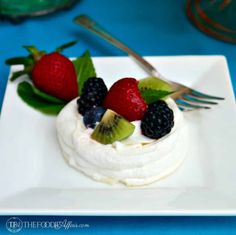 Individual Pavlova Nests - The Foodie Affair
