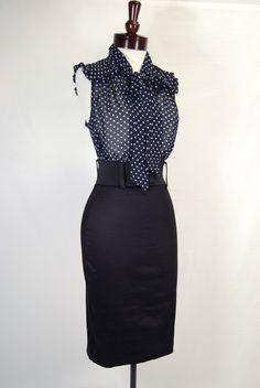 secretary blouse. lady pin skirt.
