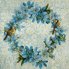 Crafting Paper Paper Napkins - Floral Wreath- For Party, Decoupage Craft & Garden Tabletop, Paper Napkins For Decoupage, Rainbow Roses, Pink Garden, Hanging Hearts, Art Graphique, Vintage Roses, Vintage Paper, Vintage Labels