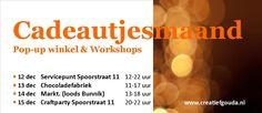 De Cadeautjesmaand maakt zich op voor de finale. Vier laatste kansen voor onze pop-up cadeautjeswinkel & workshops!
