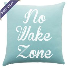 Bring beach-chic style to your sofa, chaise, or arm chair with this charming cotton pillow, featuring a typographic motif in blue and white. Handmade in the ...