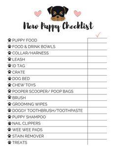 puppy checklist new . puppy checklist first . puppy checklist everything Potty Training Tips, Training Your Puppy, Training Classes, Training Pads, Training Collar, Puppy Training Schedule, Crate Training, Training Videos, Puppy Shot Schedule
