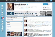 @BarackObama en Twitter, con un contador: los días que faltan para las elecciones - #Obama2012 campaign staff