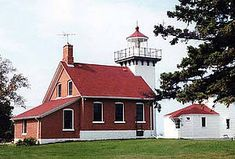Sherwood Point Lighthouse (Built 1883; Automated 1983 - The Last Maintained Lighthouse on the Great Lakes) Door County, WI, USA.