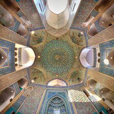 Ceiling of Jameh Mosque, Yazd, Iran. Photo credit: Mohammad Domiri