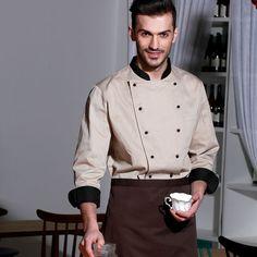 chef uniforms combinacion de dos colores