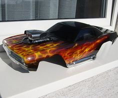 Custom Car Paint Jobs Custom Paint RC Bodies Sid Vicious Art - Custom vinyl decals for rc carsimages of cars painted with flames true fire flames on rc car