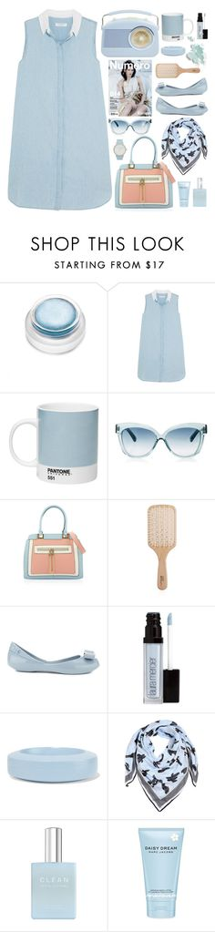 """""""Blue Note"""" by ladychatterley ❤ liked on Polyvore featuring rms beauty, Equipment, Pantone, Linda Farrow, Philip Kingsley, Melissa, Laura Mercier, MM6 Maison Margiela, Kenzo and CLEAN"""