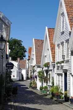 Charming Streets of Stavanger, Norway