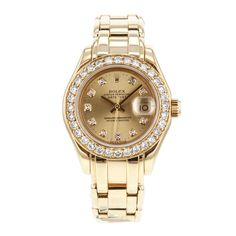 05753da3576 Rolex DateJust Masterpiece Pearlmaster 69318 18k Yellow Gold Women's Watch
