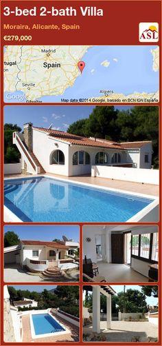 3-bed 2-bath Villa in Moraira, Alicante, Spain ►€279,000 #PropertyForSaleInSpain