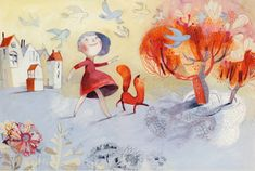 I saw the illustration work of Isabelle Arsenault today via Illustration Mundo and just fell in love with all of it. Art And Illustration, Illustrations And Posters, Illustration Children, Inspiration Art, Art Graphique, Art Plastique, Cute Art, Childrens Books, Artwork