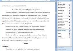 format my paper apa