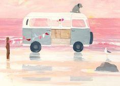 Let's Escape Canvas Art by Hannah Cole | Whistlefish Galleries