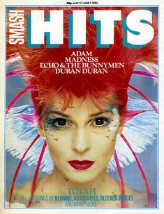 Smash Hits so cool, loved getting a free badge! Love that Toyah Wilcox is on the…