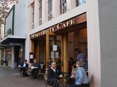 University Cafe in Palo Alto, CA  #cafe #coffeeshop #café