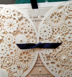 Wedding Stationery by Sinead Dineen: Laser Cut Invitations  www.weddingstationerycork.blogspot.ie Laser Cut Invitation, Invitations, Wedding Stationery, Wedding Designs, Print Patterns, Frame, Prints, Picture Frame, Save The Date Invitations