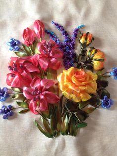 *RIBBON ART ~ Beautiful lilly