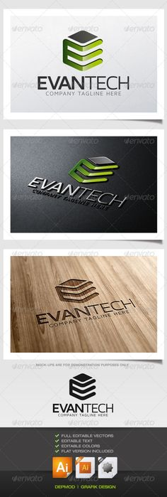 Evan Tech Logo  #GraphicRiver         Logo of a cubical e letter shape. Can be used for many kind of project. Full vectors, this logo can be easily resize and colors can be changed to fit your colors project. Flat version for print also included. The font used is in a download file in the package.   Font :  .fontsquirrel /fonts/maven-pro   Files provided : .ai (CC and CS), .eps, .jpg, .png (transparent)     Created: 2August13 GraphicsFilesIncluded: TransparentPNG #JPGImage #VectorEPS…
