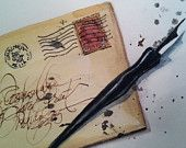 Original Watercolor note cards, with natural brown envelopes...