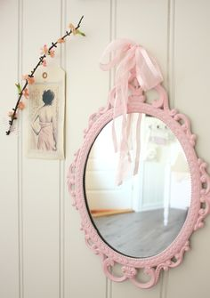 Mirror For Baby S Nursery Rose Pastel Cottage Chic Little