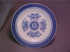 3 Copeland Spode Bread and Butter Plates Blue Fitzhugh Mint Condition