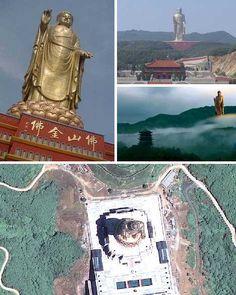 Templo del Buda de la primavera, China     La estatua y sus instalaciones asociadas se encuentran dentro de la zona Fodushan Escénicas en Lushan, provincia de Henan