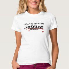 Graphic Designer Zombie Tee T Shirt, Hoodie Sweatshirt