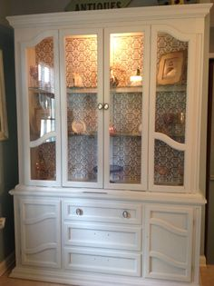 China cabinet inspiration - painting/paper backing