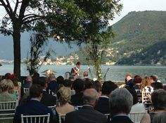 #ceremony by the #lake. Romantic setting by #whiteemotion #weddingplanner #italy