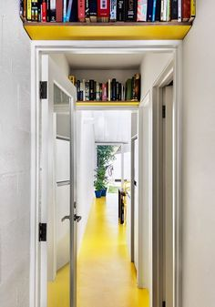 A house that invites the sunshine in! small space storage idea - book storage over the doorway. Having experienced twelve long, dark Swedish winters - it's safe to say I've become slightly obsessed with light. As a result, I've done eve. Book Storage Small Space, Craft Storage Ideas For Small Spaces, Creative Bookshelves, Bookshelf Ideas, Bookshelves For Small Spaces, Bookshelf Styling, Home Office Storage, Scandinavian Home, Creative Decor
