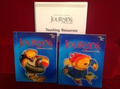 Journeys HMH Reading Gr K Student v 1 & 2 w. Tcher Resource, Ntl Common Core   #Textbook