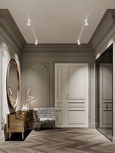 Classic Home Decor Themes That Are Always In Style Apartment Interior, Home Interior Design, Contemporary Interior Design, Neoclassical Interior, Interior Design, House Interior, Sideboard Designs, Furniture Design, Classic Home Decor