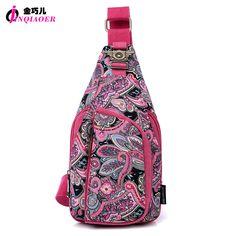 2 Types Vintage 2016 Ethnic Designer Floral Printing Ladies Chest Pack Bags Original Brand Women Small Shoulder Bag Pouch Bolsas