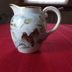 """Beautiful Little Hand Painted Japanese Pitcher. Excellent Condition. About 4.5""""   eBay"""