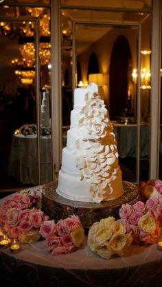My flawless flower wedding cake. Zoës bakery. Covington, Louisiana. Omni royal Orleans venue.