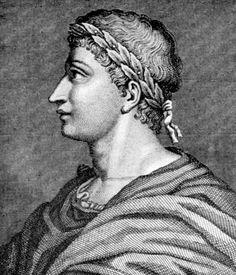 OVIDIO (43 a. C.– 17 d. C.) fue un poeta romano. En su primera etapa la poesía de Ovidio tiene un tono desenfadado y gira alrededor del tema del amor y el erotismo. Sus obras más conocidas son Arte de amar y Las metamorfosis, obra esta última en verso que recoge relatos mitológicos procedentes del mundo griego adaptados a la cultura latina de su época. Se trata de un poema escrito con la voluntad de competir con Virgilio.