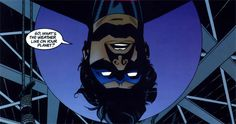 Witty Dick Grayson taunting another bad guy while tied up (Part 1)